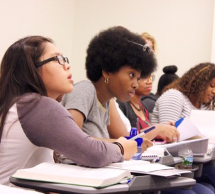 Girls in Bridge to Calculus class